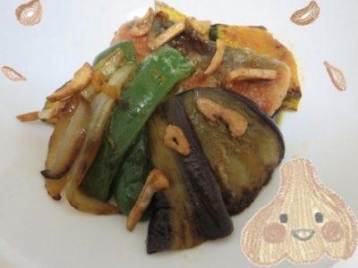 フライドガーリックと野菜