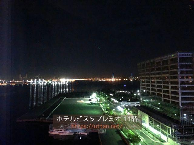ホテルビスタプレミオの夜景 海側